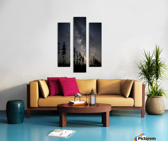 Yellowstone Milky Way Canvas print