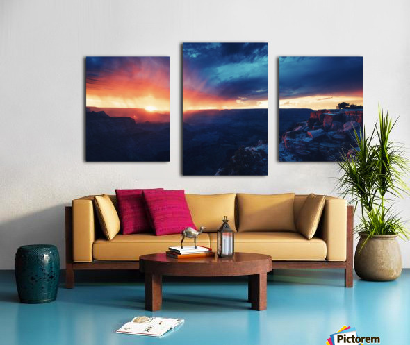 The Grandest Sunset Canvas print