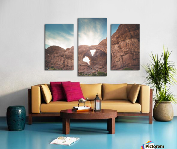 The Double Arch Canvas print