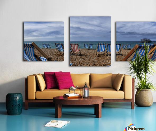 Deckchairs In Brighton Canvas print