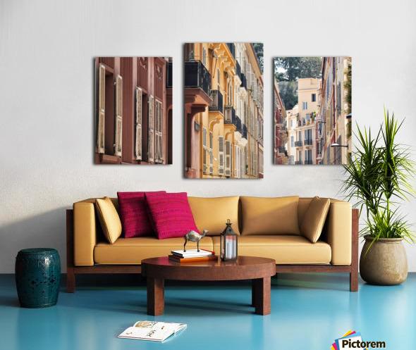 Monaco Street Canvas print