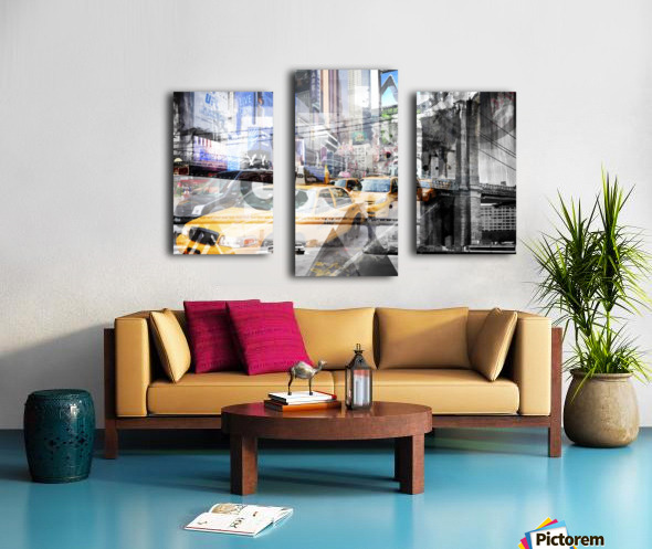 New York City Geometric Mix No. 9 Canvas print