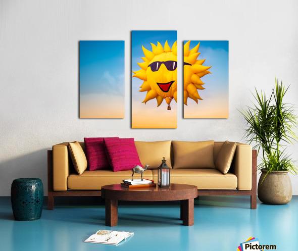 Forecast Clear and Sunny Canvas print