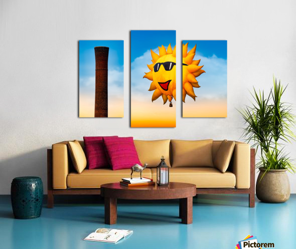 Sunny and the Smokestack Canvas print