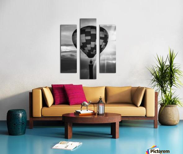 Hot Air Balloon On A Smokestack Canvas print