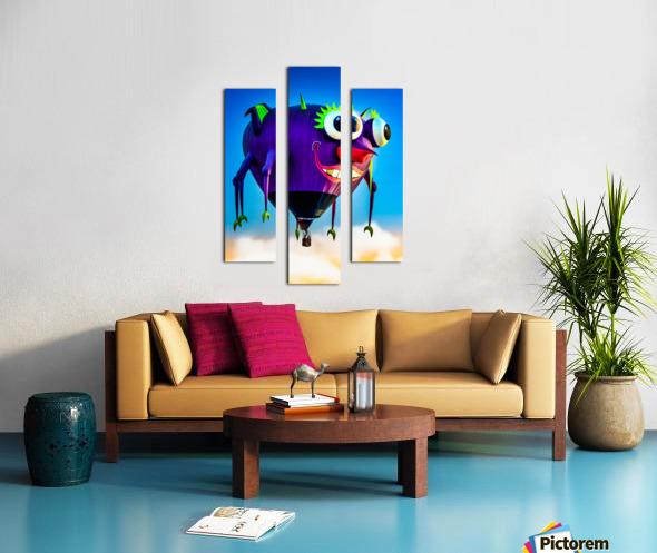 Flying Purple People Eater Canvas print