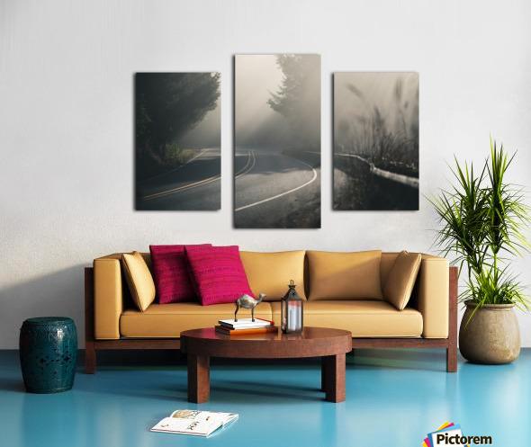 Pacific Coast Highway Mist Canvas print