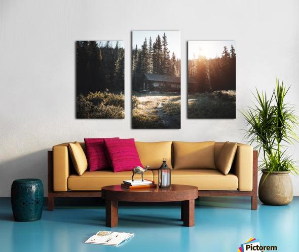 Rocky Mountain Cabin Canvas print