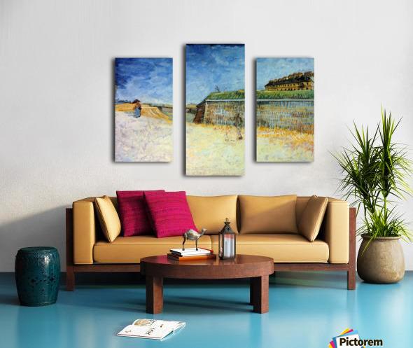 The Ramparts of Paris2 by Van Gogh Canvas print