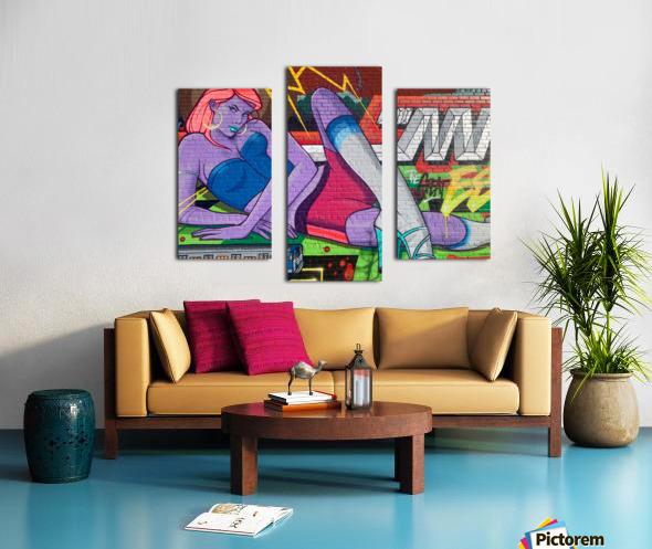 Graffiti Glam  Canvas print