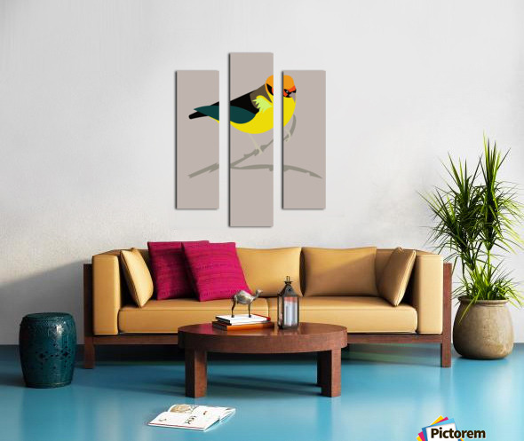 Black Eared Tanager Canvas print
