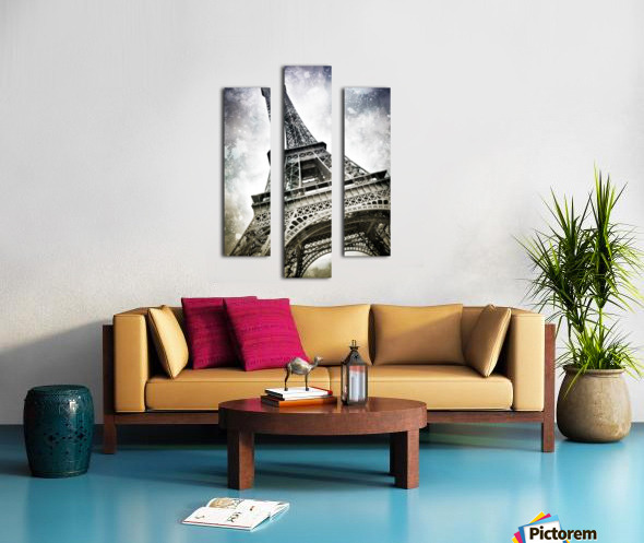 Modern-Art PARIS Eiffel Tower Splashes Canvas print
