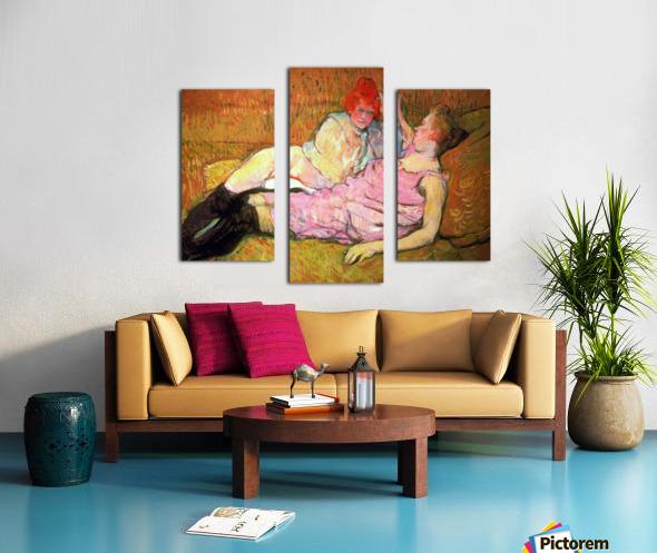 The Sofa By Toulouse Lautrec Canvas Print