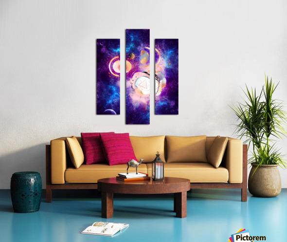 Dream Art XVIII - Cosmic World Canvas print