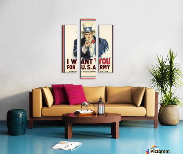 I Want You, 1917 Canvas print