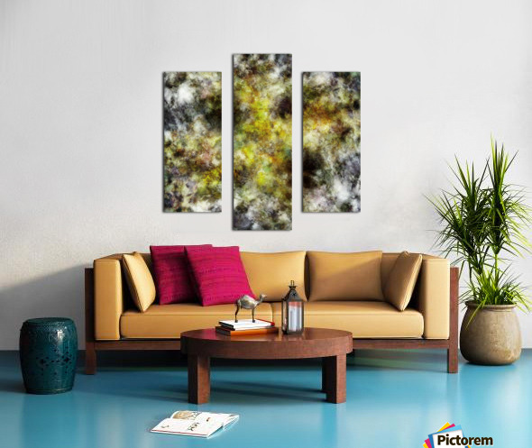 Heading into the yellow storm Canvas print