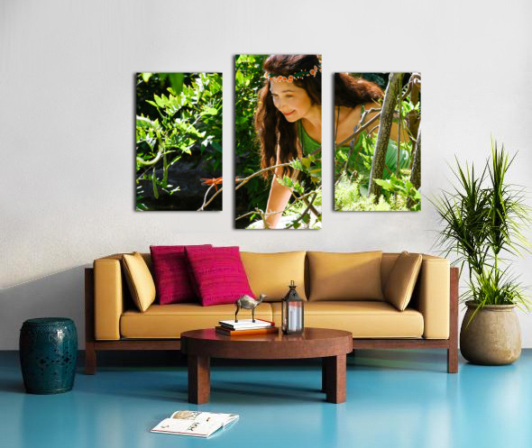THE TINY MESSENGER collection 2-4 Canvas print