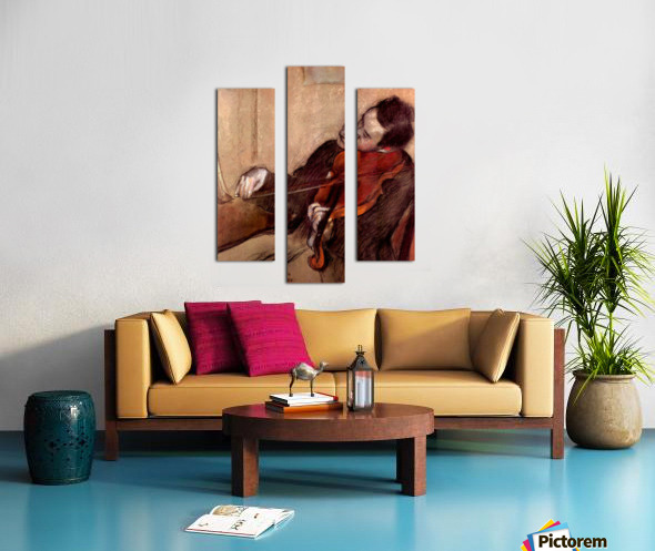 The violinist 1 by Degas Canvas print