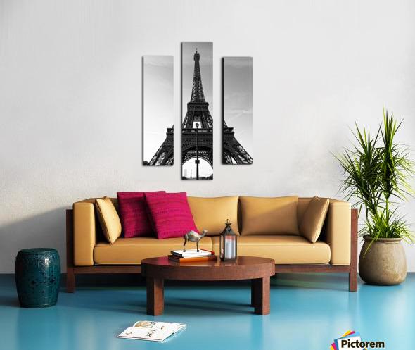 Eiffel tower in black  Impression sur toile