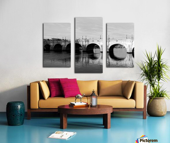 Pont Neuf Reflection Impression sur toile