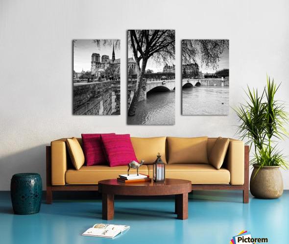 Seine river flood Impression sur toile