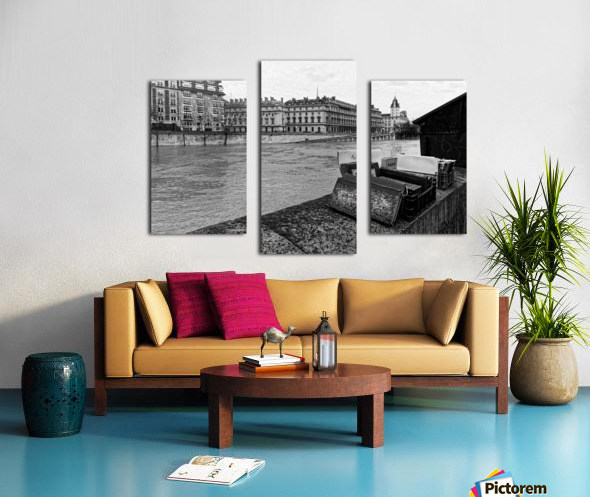 Paris quay Impression sur toile