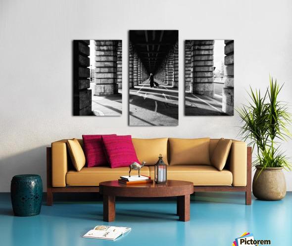 Bercy bridge Impression sur toile