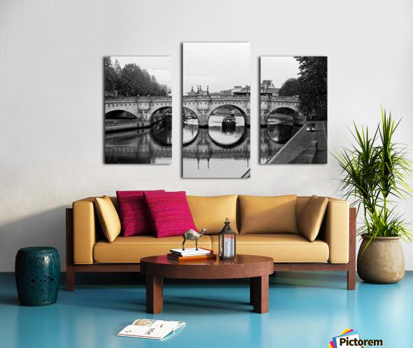 The barge Impression sur toile