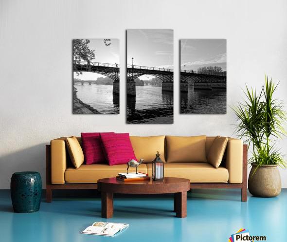Pont des arts sunrise Impression sur toile