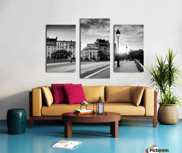 Sully bridge sunrise Impression sur toile