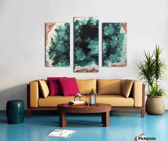 Green Geode Canvas print