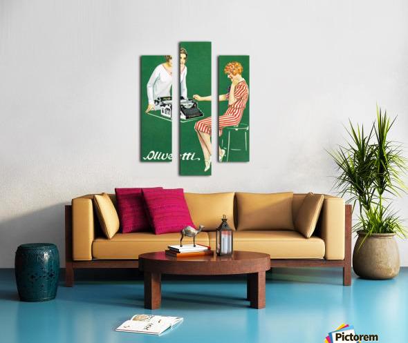 Olivetti poster Canvas print