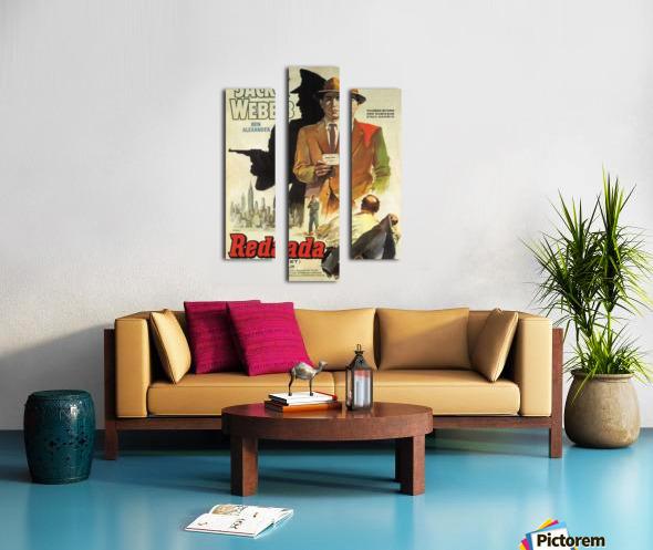 Film Noir Poster - Dragnet Canvas print