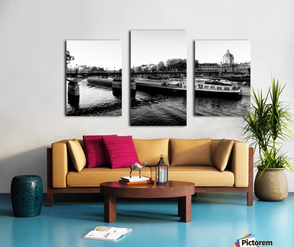 Under the Pont des Arts Impression sur toile