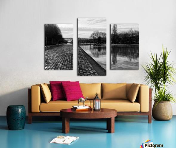 Ourcq canal Impression sur toile