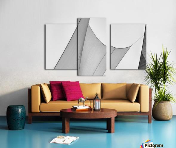 Abstract Sailcloth 8 Canvas print
