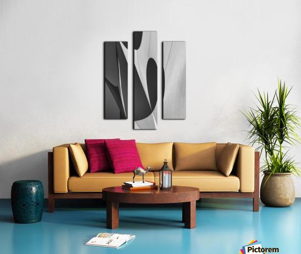 Abstract Sailcloth 10 Canvas print