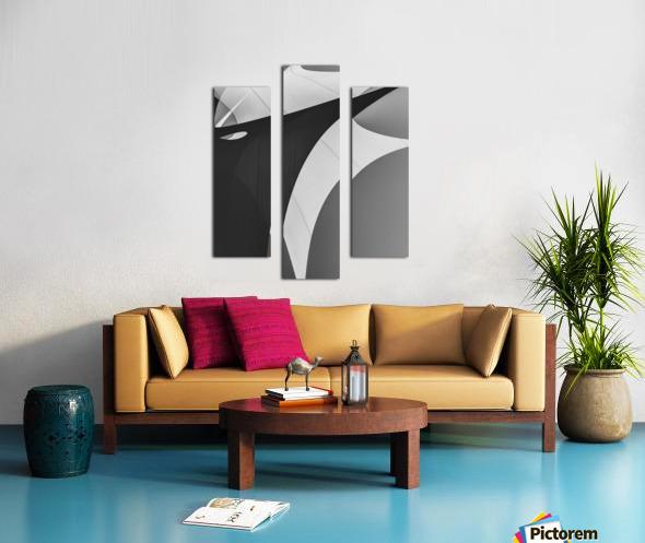 Abstract Sailcloth 4 Canvas print