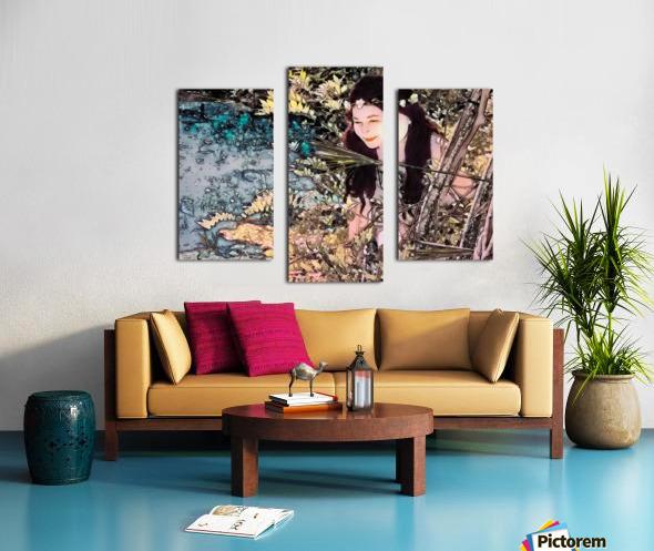 FAIRY AND THE LAKE  Art-Photo 1-4  Canvas print