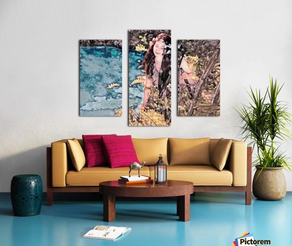 FAIRY AND THE LAKE - Art-Photo  2-4 Canvas print