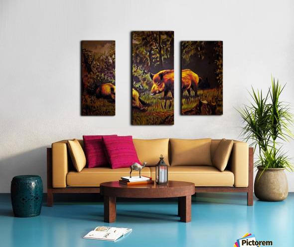 Wild Boars Canvas print