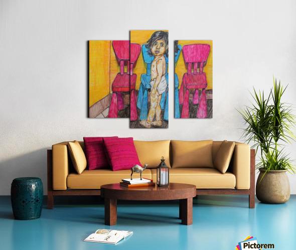 Bluepink Canvas print