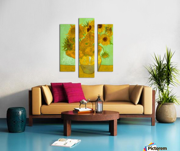 Twelve Sunflowers by Van Gogh Canvas print