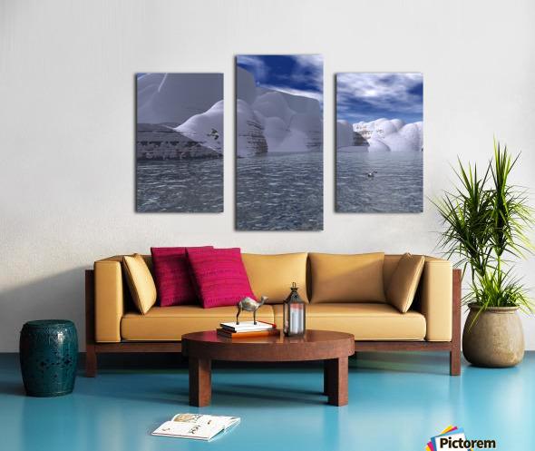 citadelle de glace Canvas print