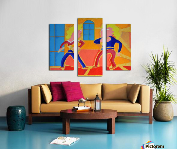 partage Canvas print