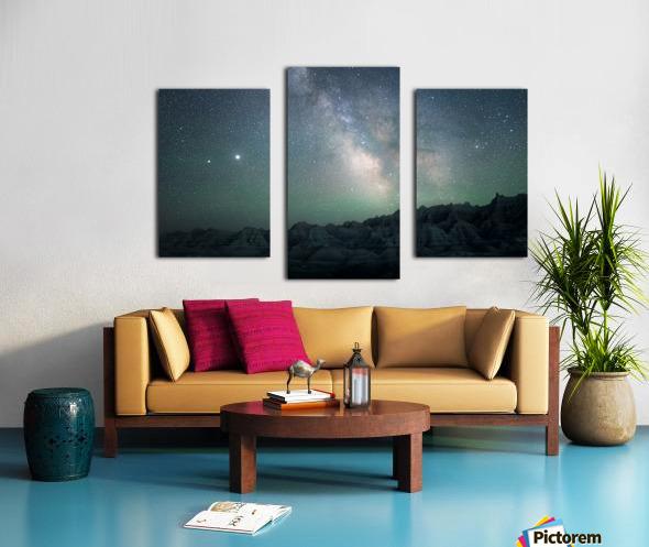 Milky Way Above The Badlands Canvas print