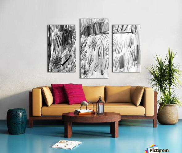 Lawn sketch Canvas print