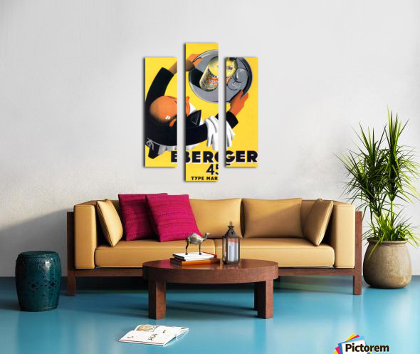Berger 45 Poster Ad Roland Ansieau 1935 Canvas print