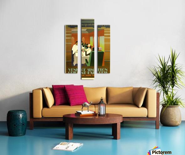 Travel Art Deco Style Poster - Venice Simplon Orient Express Railway Canvas print