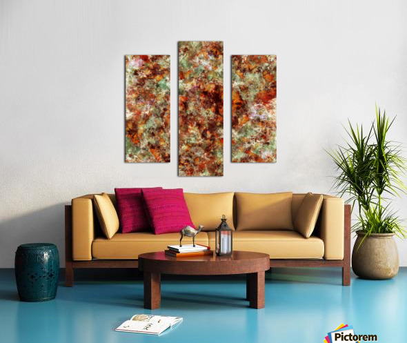 Submerged leaves Canvas print